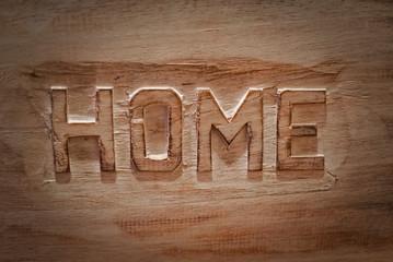 Hintergrund, Home - auf Holz geschnitzt