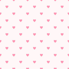 Valentine pattern seamless heart shape sweet pink colors background.