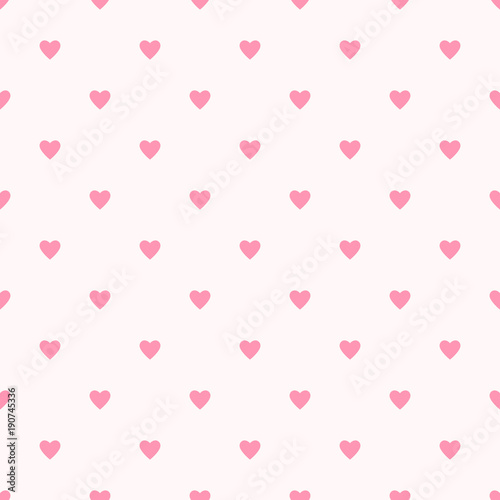 Valentine Pattern Seamless Heart Shape Sweet Pink Colors Background