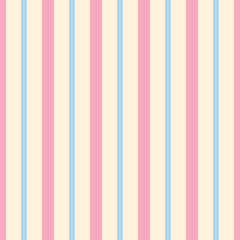 Seamless pattern stripe pink and blue pastel colors. Vertical pattern stripe abstract background vector illustration