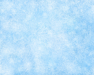 Frozen winter background with snowflake decoration.