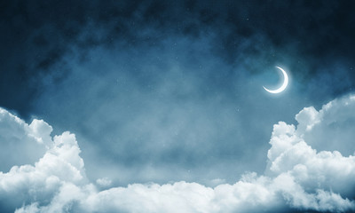 Wallpaper of cloud night skyscape.