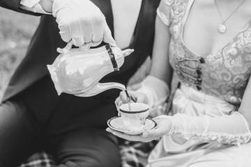 Aristocrats drink tea