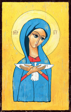 Our Lady, pneumatofora, icon / image painting