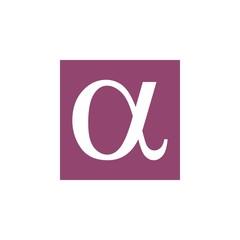 letter alpha greek symbol logo vector