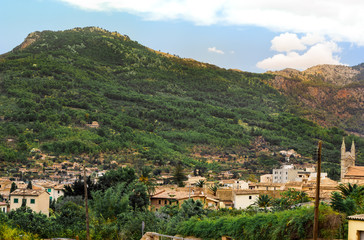 View of Soller panorama in Mallorca island, Spain