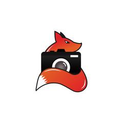 Fox camera photography logo design