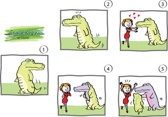 cartoon crocodile's story