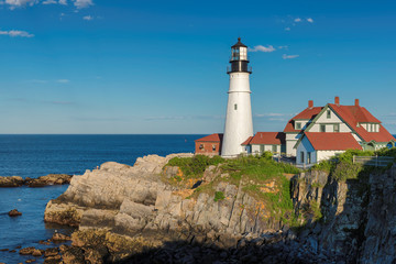 Portland Lighthouse in Cape Elizabeth, Maine, USA.