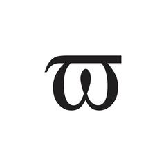 letter omega greek symbol logo vector
