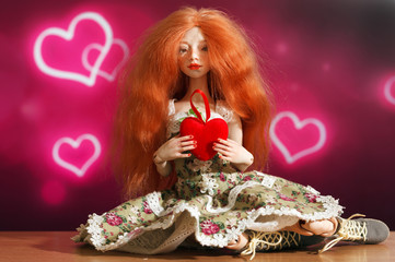 Doll and heart