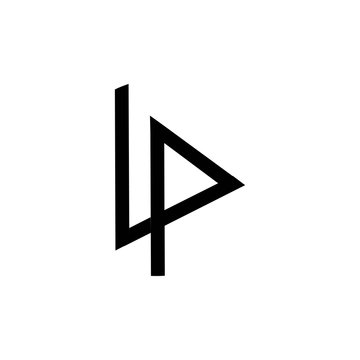 art of letter lp logo vector