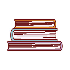 books stack education paper learning library vector illustration