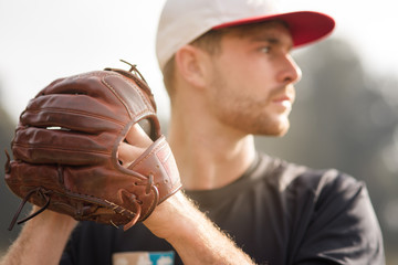 concentration avant l'action(Baseball)