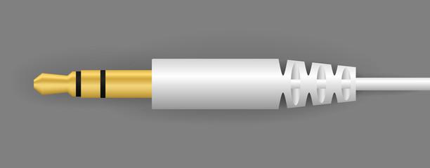 vector white audio connector
