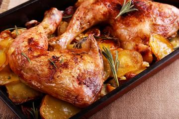 Herby chicken and potato traybake
