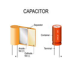 capacitor. appearance and interior.  how the capacitor works