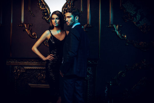 luxury man and girl