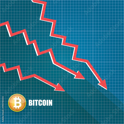 Vector bitcoin market crash graph on blueprint background bitcoin vector bitcoin market crash graph on blueprint background bitcoin hype concept vector illusrtation with blank malvernweather Gallery