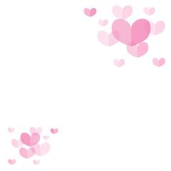 Pink Pastel Heart Background