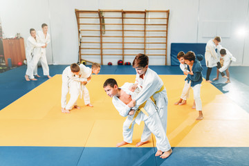Kid judo, childrens training, self-defense