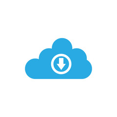 Download and cloud logo design template vector