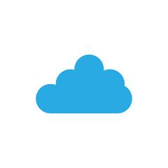 Blue cloud logo design template vector