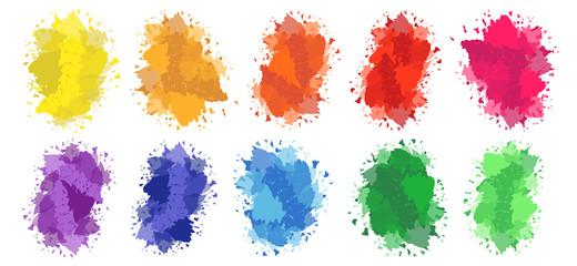 Farb Flecken Wasserfarbe