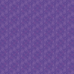 Seamless abstract flower and curl violet pattern vector illustration sketch
