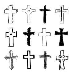 Doodle Christian Cross Set