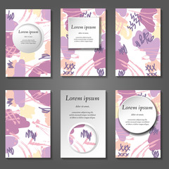 Minimal vector covers set. Artistic painted