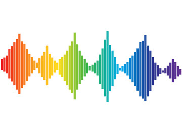 Colorful Sound waves, stock vector illustration