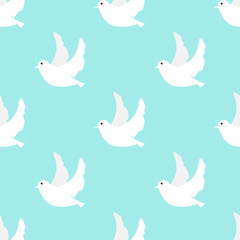 dove seamless pattern background