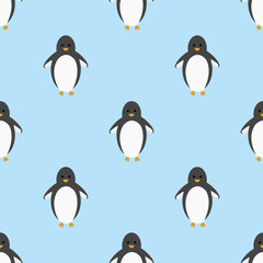 penguin seamless pattern background