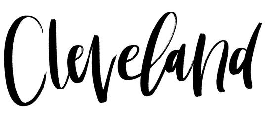 kbecca_vector_brush_lettering_city_cleveland_ohio