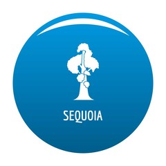 Sequoia icon vector blue circle isolated on white background