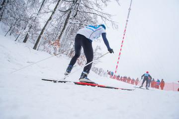 Nordic ski professional cross country ski race