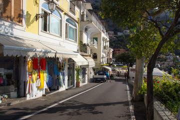 Positano on Amalfi Coast near Naples in Italy