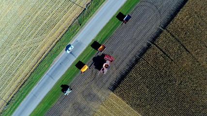 Aerial Harvesting Scene