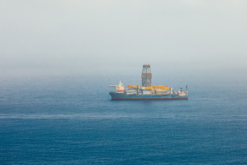 offshore oil and gas drillship
