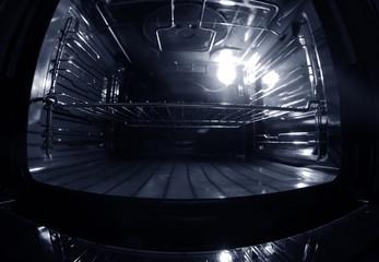 Modern empty oven, closeup