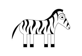 Cute cartoon zebra illustration