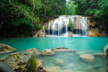 Erawan waterfall in Thailand National Park