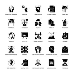 Glyph Icons Project Management