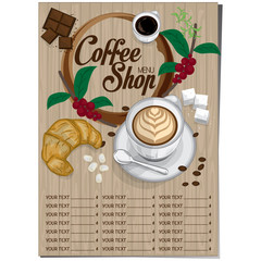 menu coffee restaurant template design hand drawing graphic