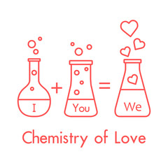 You and me and our chemistry of love. Valentine's
