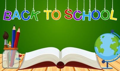Background theme for back to school