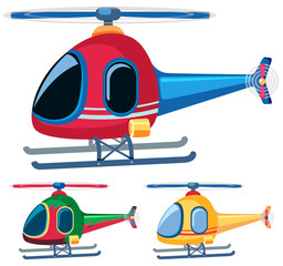 Helicopters in three designs