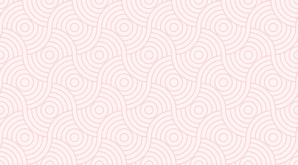 Pattern seamless circle abstract wave background stripe pink two tone colors and line. Geometric line vector valentine background.