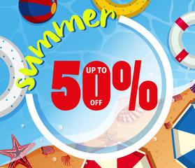 Background design for summer sale